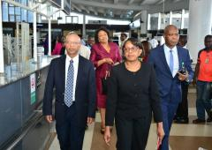Dr Moeti arrives Nigeria