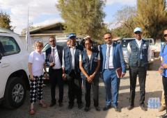 WHO/AFRO-UK High Level delegates started their visit in Ethiopia
