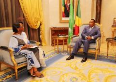 Audience with the President fo the Congo, Mr Denis Sassou Nguesso