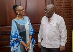 Dr Moeti Visits Ghana, April 2018