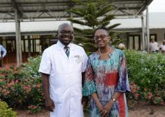 Dr Moeti with medical sup, Dr Brightson