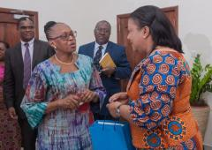 Dr Moeti with the First Lady of Ghana