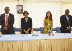 From left to right: WR; RD; UN resident coordinator; Dr Djingarey