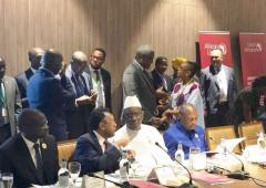 Dr Moeti at the AIDS Watch Africa working lunch, Mauritania, July 2018