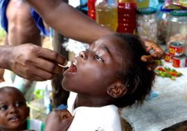 Children and adults are receiving the vaccine across disaster-affected areas