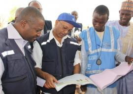 Dr Alemu during field visit to access humanitarian response in Borno state