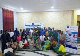 A group photo of stakeholders at the workshop.