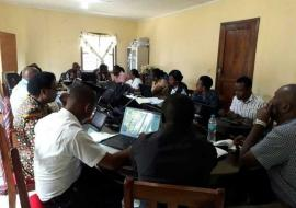 Field Team holding a feedback meeting with CHMT at Singida DC