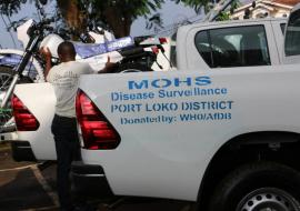 Vehicles were donated to the districts to support rapid response to health emergencies