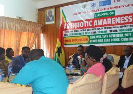 Dignitaries at the launch of Antibiotic Awareness Week