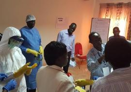 Practical session on proper use of PPEs in outbreak response