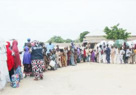 High turnout of beneficiaries marks the 2nd OCV campaign in Borno state. Photo: WHO/CE.Onuekwe
