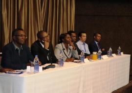 The top table following proceedings during the opening