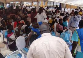A cross section of the community members atteding the launch of the AVW in Juba