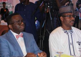 Honorable Minister of Health, Prof. Isaac F. Adewole (L) & ED NPHCDA during the Civil Servant engagement workshop on Immunization & PHC Strengthening i.jpg