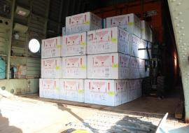 Delivery of cholera vaccines in South Sudan.