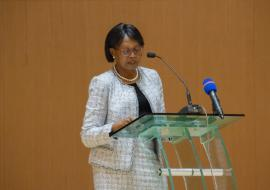 Dr Moeti speaking at the opening ceremony of the Congress of the African Society of Hematology