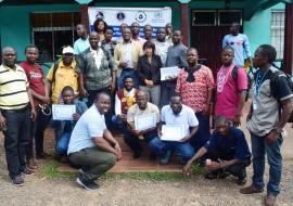 Group photo of participants at the Water Safety Plan validation workshop in Buchanan, Grand Bassa County