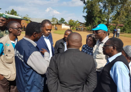 Ministry of Health, WHO and partners conduct first mission to evaluate Ebola outbreak in Mangina, in North Kivu