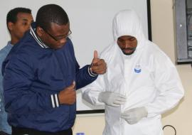 Demonstration of Personal Protective Equipment (PPE) procedure