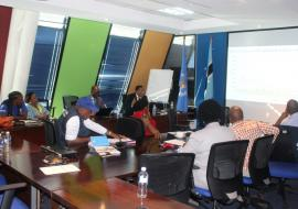 AFRO Consultants briefing WCO Staff at the conclusion of the mission