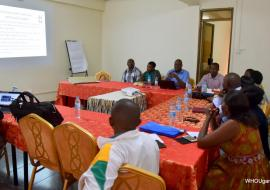 The psycosocial teams in one of the training sessions led by the Ministry of Health and WHO