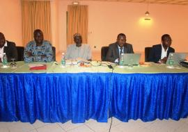 Officials from the Ministries of Health and Finance and WHO at the Tobacco Taxation workshop