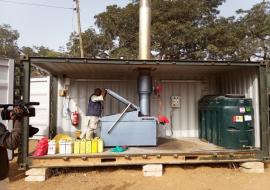 Incinerator donated by WHO to Bauchi State MoH installed at Bayara General Hospital