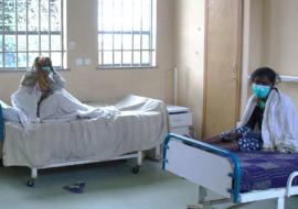 TB patients in a hospital