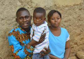 Ebola Survivor with Family