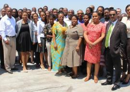 Group photo of participants at the Integrated Vector Management stakeholder engagement meeting in Botswana