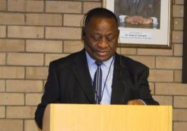 Minister of Health and Social Services, Hon. Dr. Kalumbi Shangula