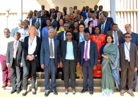 Ministry of Health officials from different countries and partners that are attending the International Meeting