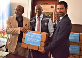 WHO donates  emergency kits to support victims of Cyclone Kenneth.