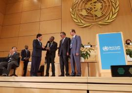 Dr Hilonga was recognized at the World Health Assembly