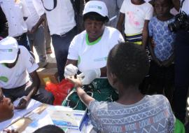 Malaria testing services were offered during the commemoration