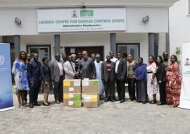 Group photograph during recent handover ceremony of Cholera Kits