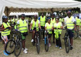 Cyclists during the World Environment Day