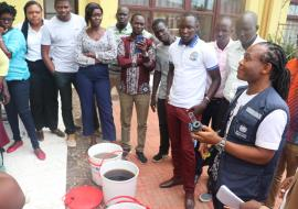 Practical session on purification of untreated water