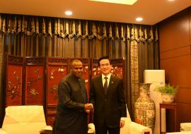 Dr Martins Ovberedjo, WHO Representative to Eritrea and Chinese Ambassador to the State of Eritrea, Mr Yang Zigang