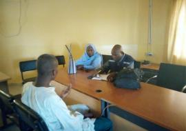 Conducting motivational interview with a mentally unstable patient   at Drug Ward Federal Neuro Psychiatric Hospital Maiduguri (FNPH)