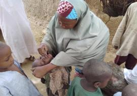 Eligible child been vaccinated in Almajiri school in Zamfara