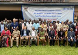 Participants in the Annual African Yellow Fever/ Measles Surveillance Dara management and Laboratory directors' meeting in Kampala
