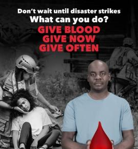 World Blood Donor Day 2017: What can you do? Give blood. Give now. Give often