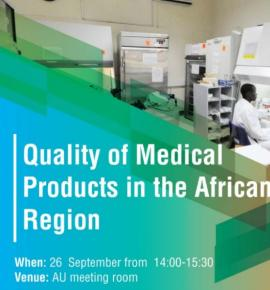 "UNGA high level side event - ""The fight for quality medicines in Africa – stopping falsified, substandard medicines"""