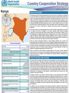 Country Cooperation Strategy at a glance: Kenya