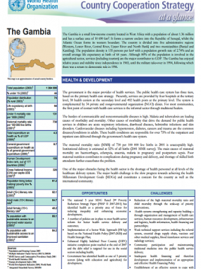 Country Cooperation Strategy at a glance: Gambia