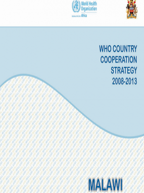 Malawi Country Cooperation Strategy 2008-2013