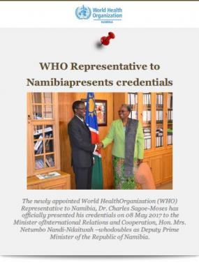 WHO Namibia May 2017  Newsletter