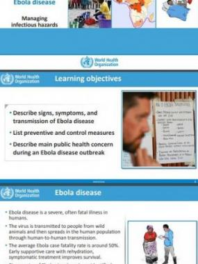 Introduction to Ebola disease: Managing infectious hazards
